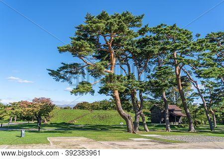 Goryokaku Park, A Star Shaped Fort Park In Hakodate City, Hokkaido, Japan