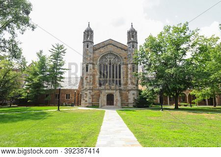 ANN ARBOR, MI - AUGUST 09,2020:  Law school at university of Michigan is consistently ranks among the highest-rated law schools in the United States and the world.