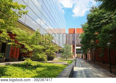 ANN ARBOR, MI - AUGUST 09,2020:  The Stephen M. Ross School of Business in University of Michigan is one of the top 10 business schools in the USA.