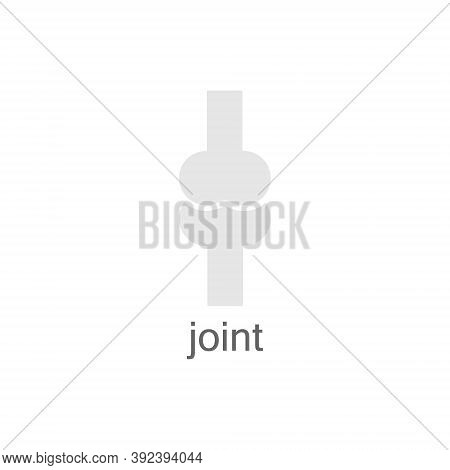 Joint Bone Icon. People Outline Joint Bones Black Shape Vector Illustration Isolated On White Backgr