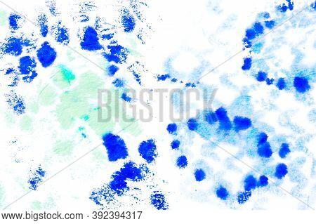 Predator Pattern. Handmade Distressed Cloth Ornament. Aligator Leather Wild Surface. Blue Color. Jun