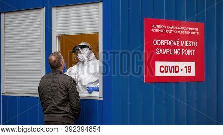 Martin, Slovakia - October 31: National Coronavirus Testing