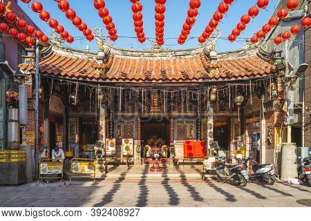 October 30, 2020: Lukang City God Temple At Lukang, Changhua, Taiwan, Was Built In 1954. It Has Two
