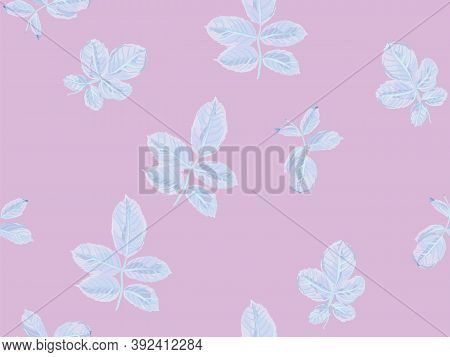 Romantic Botanical Vector Background. Repeated Spring Peony Wallpaper. Proton Purple Painted English