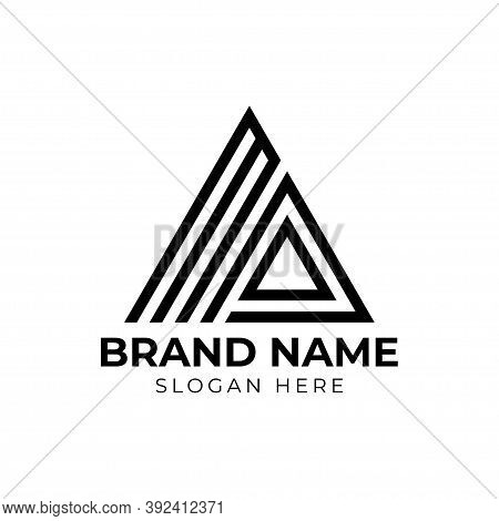 Triangle With Initial Letter Ma Logo Design Template