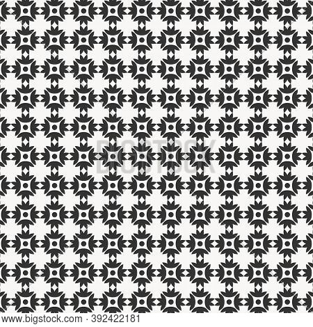 Abstact Flower Vector Pattern. Pattern Is On Swatches Panel