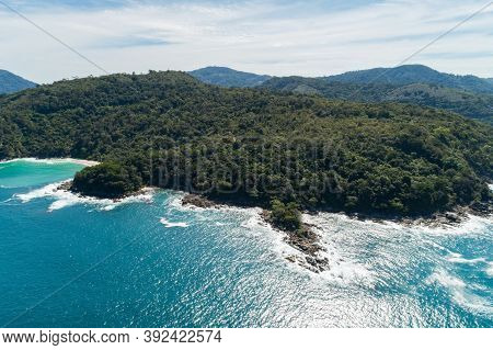 Landscape Nature Scenery View Of Beautiful Tropical Sea With Sea Coast View In Summer Season Image B