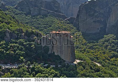 Monastery Of Rousanou On A Sunny Day