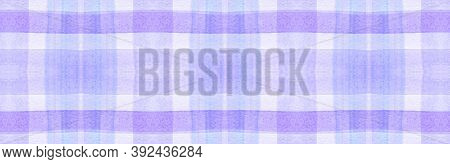 White Flannel Checks. Watercolor Stripe Textile. Hipster Gingham Tablecloth. Seamless Flannel Checks