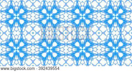 Seamless Predator Pattern. Python Or Cobra Wild Print. Fashion Exotic Illustration. Blue And White C