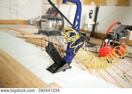 Hardwood Floor And Installation Tools On The House