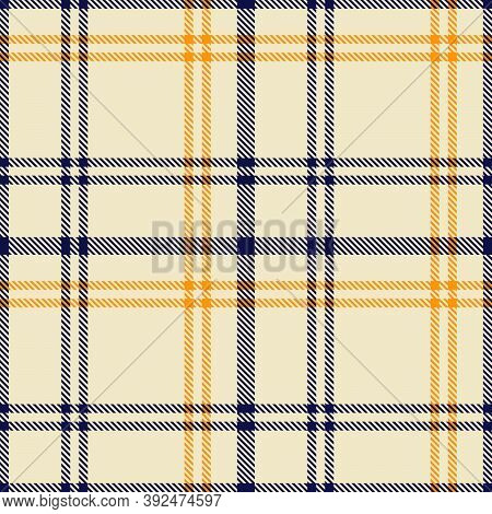 Orange Glen Plaid Textured Seamless Pattern