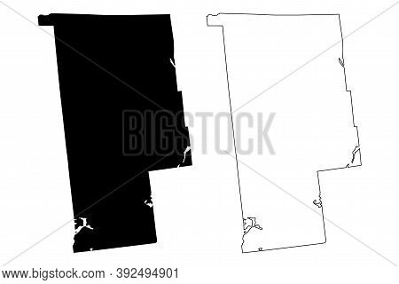 Franklin County, New York State (u.s. County, United States Of America, Usa, U.s., Us) Map Vector Il