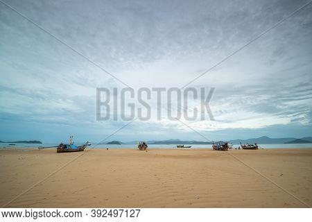 Ranong, Thailand - September 20, 2020 : A Beautiful View Of Tropical Beach Scenery At Koh Phayam Isl