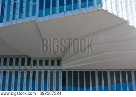 Oslo, Norway - September, 22, 2019: Part Of Facade Of The Oslo Opera House Building Of The Norwegian