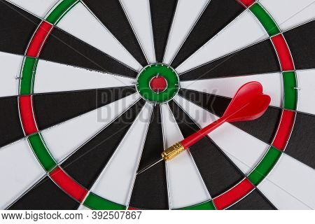 Darts Close Up And One Red Dart, Concept