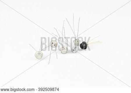 Radio Components, Vintage, Amplifier Transistor, Metal Case, Gray Black Repair Replacement