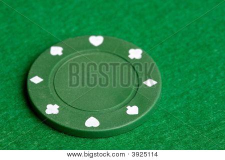 Green Poker Chip