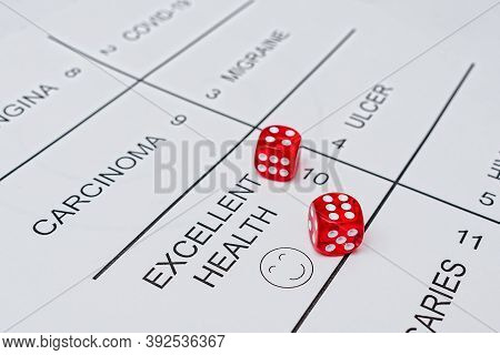 Playing With Fate For Diseases With The Help Of Dice. Gambling For Various Diseases