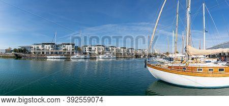 La Rochelle, C-m / France - 16 October 2020: Lexpenisve Luxury Boats In The Harbor Of La Rochelle