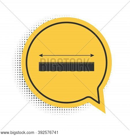 Black The Measuring Height And Length Icon Isolated On White Background. Ruler, Straightedge, Scale