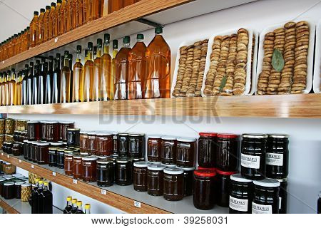 BALIKES?R,TURKEY-OCTOBER 8: Organic Products Shop