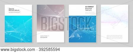 A4 Brochure Layout Of Covers Templates For Flyer Leaflet, A4 Brochure Design, Report, Presentation,