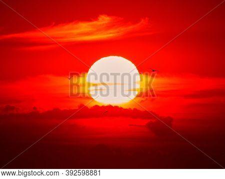 Sunrise, clouds, Danube Delta - Dobrogea