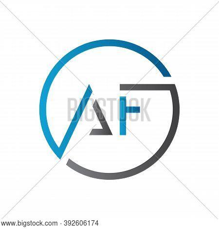 Initial Af Letter Logo Design Vector Template. Creative Letter Af Logo Design