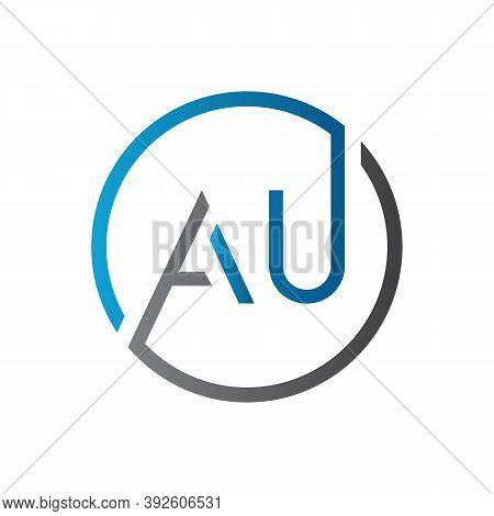 Initial Au Letter Logo Design Vector Template. Creative Letter Au Logo Design