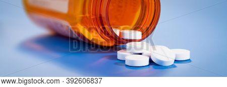 pills in a bottle in modern lab