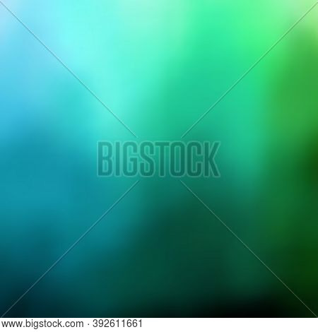 Colored Background, Beautiful Gradient Transition From Light Shades Of Blue And Green To Dark And Bl