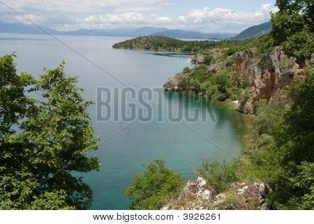 Ohrid Lake In The Spring Balkan Peninsula