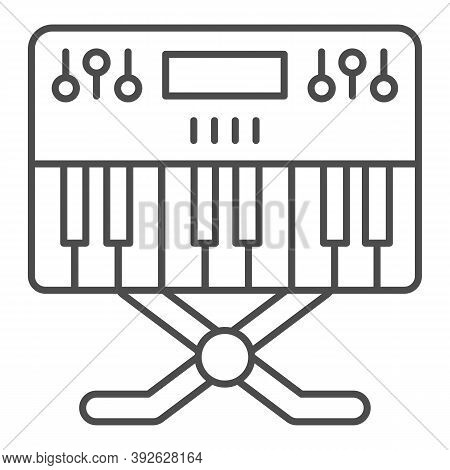Synthesizer Thin Line Icon, Sound Design Concept, Synth Sign On White Background, Music Synthesizer