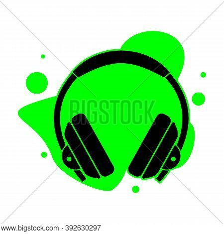 Headphone Icon. Simple Illustration Of Headphone Vector Icon For Web