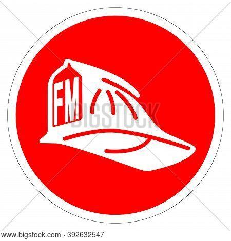 Fire Marshal Symbol Sign ,vector Illustration, Isolate On White Background Label .eps10