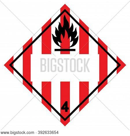 Class 4 Blank Flammable Solid Symbol Sign ,vector Illustration, Isolate On White Background Label .e