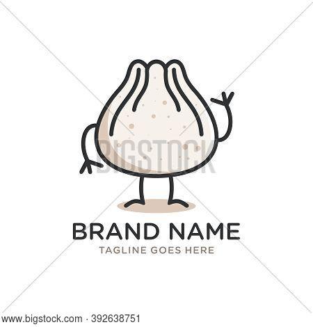 Dumpling Cartoon Mascot Logo Design Or Brand