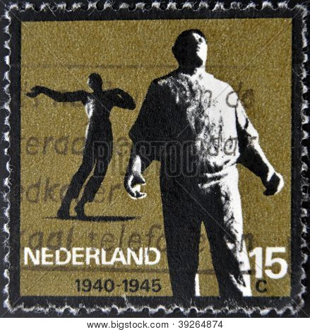 HOLLAND - CIRCA 1965: A stamp printed in Holland from the