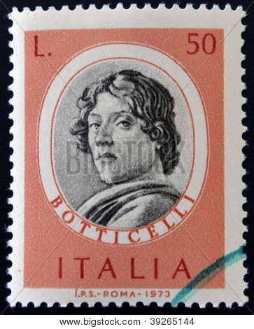 ITALY - CIRCA 1973: stamp printed in Italy shows Sandro Botticelli circa 1973