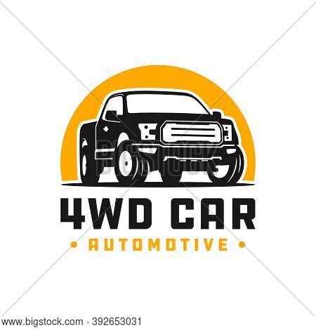 4wd Pick Up Car Logo Design Or Brand