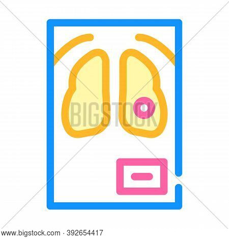 Fluorography Snapshot Color Icon Vector Illustration Sign