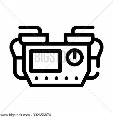 Defibrillator Medical Equipment Line Icon Vector Illustration