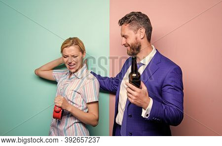 Girl Meet Alcoholic Guy. Housewife And Drunk Husband. Whoop It Up. Unacceptable Behavior. Couple Man
