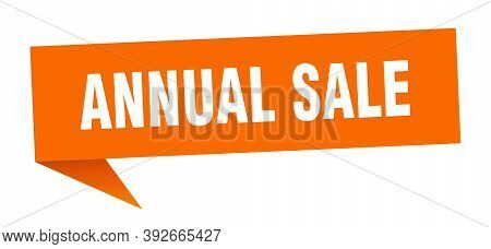 Annual Sale Banner. Annual Sale Speech Bubble. Annual Sale Sign