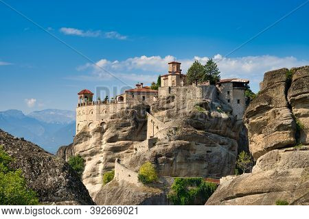 Monastery Of Varlaam On A Sunny Day