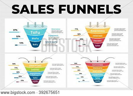 Sales Funnels Infographic Templates For Your Marketing Presentation.
