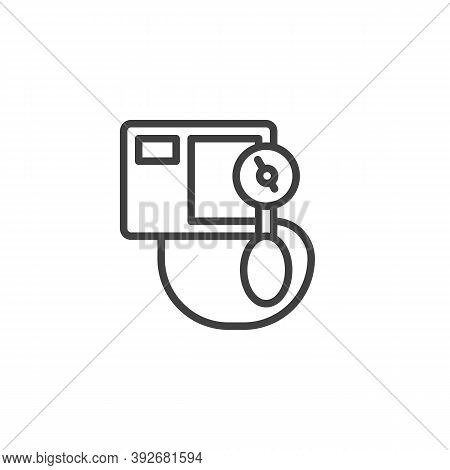 Sphygmomanometer Line Icon. Linear Style Sign For Mobile Concept And Web Design. Blood Pressure Meas