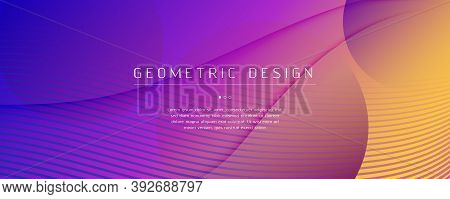 Fluid Abstract. Flow Landing Page. 3d Shape Banner. Vector Futuristic Movement. Bright Digital Illus