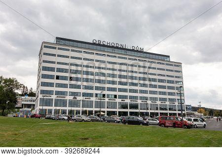 Zlin, Czech Republic - September 27, 2019: The Department Store (obchodni Dum In Czech) With A Lot O